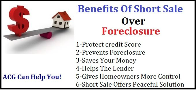 Benefits of short sale over foreclosure
