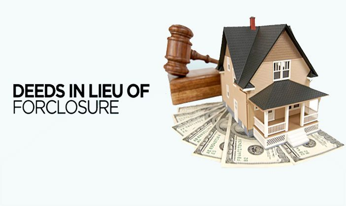 Deed in lieu of foreclosure