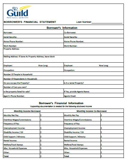 Ocwen RMA Loan Modification Package Forms