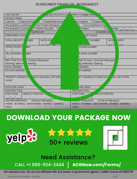 360 Mortgage RMA Short Sale Package Forms