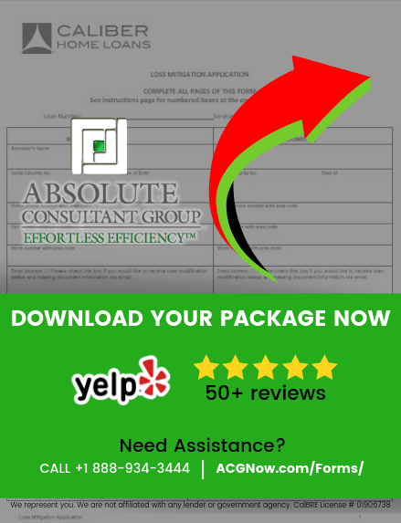 Caliber Home Loans RMA Short Sale Package Forms