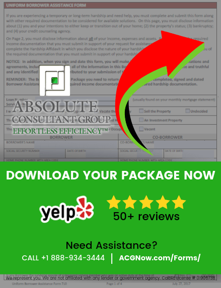 CCO Mortgage RMA Short Sale Package Forms
