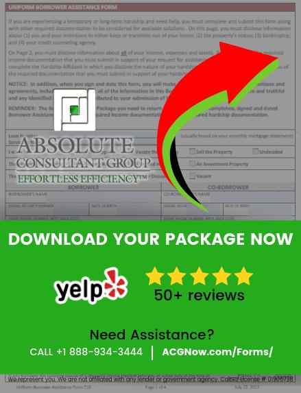 Selene RMA Loan Modification Forms, Check List, And Package PDF