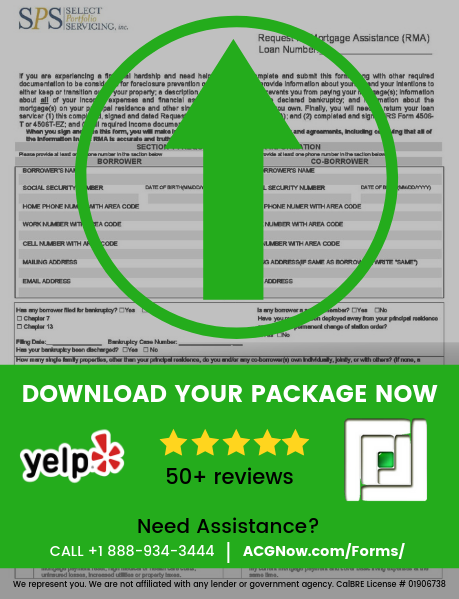 Select Portfolio Servicing RMA Loan Modification Package Forms