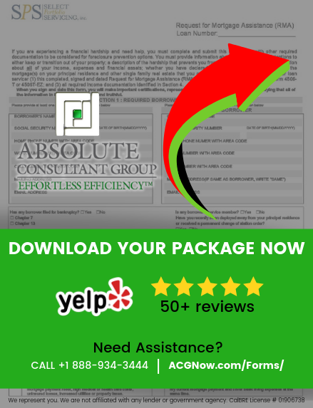 Select Portfolio Servicing RMA Short Sale Package Forms